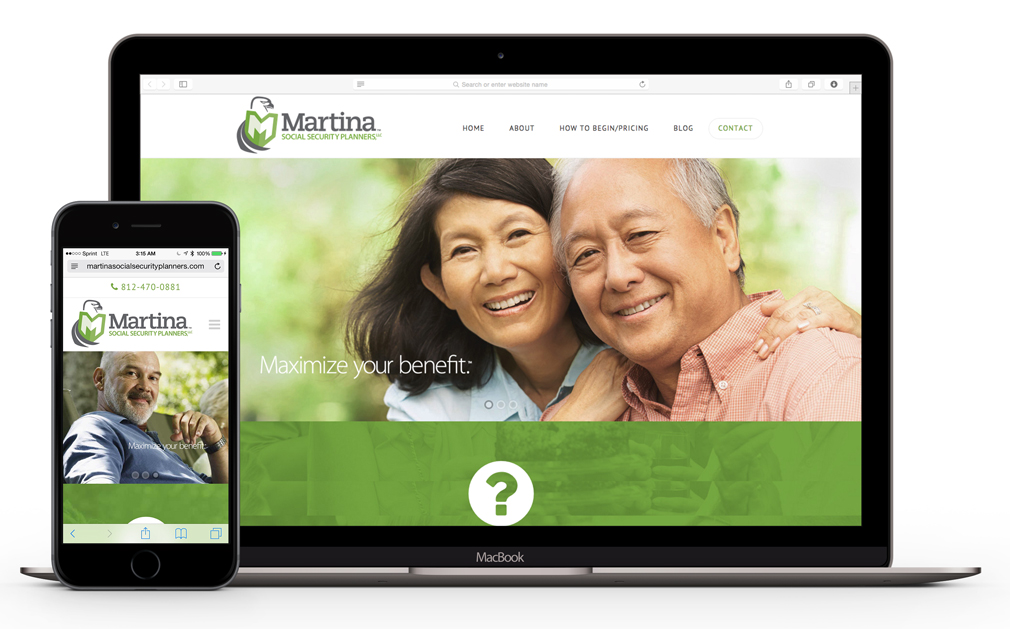 Martina Social Security Planners Website Design